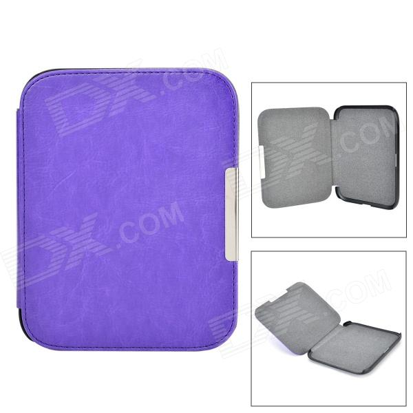 Protective Flip-Open PU + Micro Fiber Case w/ Magnetic Closure for Nook 4 - Purple - DXTablet Cases<br>Color Purple Brand N/A Quantity 1 Set Shade Of Color Purple Material PU + micro fiber Compatible Brand OthersNook Compatible Size 6 inch Style Antique Compatible Model Nook 4 Type Leather Cases Other Features Protect your device from scratches shock and dust Packing List 1 x Case<br>