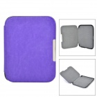 Protective Flip-Open PU + Micro Fiber Case w/ Magnetic Closure for Nook 4 - Purple