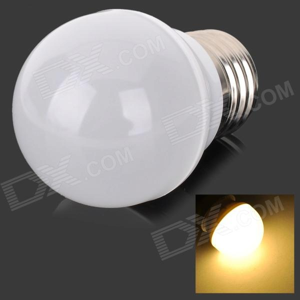 MLSLED E27 3W 240lm 3500K 6-5730 SMD LED Warm White Light Lamp - White + Silver (AC 190~230V)