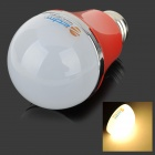 ZDM E27 5W 400lm 3500K 10-5730 SMD LED Warm White Light Bulb - White + Silver + Red (AC 200~240V)