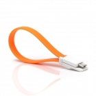 Xiaomi Magnetic Flat Micro USB Male to USB 2.0 Male Data Sync / Charging Cable - Orange (20cm)