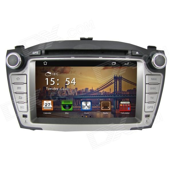 7 IPS Android 4.2 Car DVD Player w/ GPS, RDS, Wi-Fi, Radio, AUX, BT for IX35 7 hd 2din car stereo bluetooth mp5 player gps navigation support tf usb aux fm radio rearview camera fm radio usb tf aux