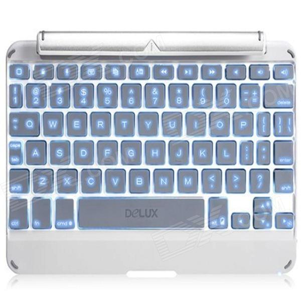 Delux Super Motlys Wireless Bluetooth 3.0 Keyboard for iPad Mini eller IPAD MINI 2 - Sølv