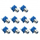MaiTech RCA AV-6 One 180 Degree 2-pin Audio Jacks - Blue (10 PCS)