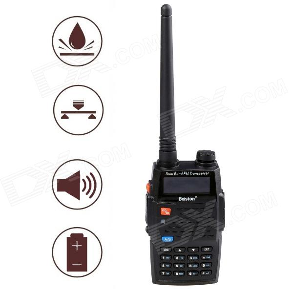 Baiston BST-598UV Wasserdicht Stoßfest Dual-Band Dual-Monitor Dual-Standby-Walkie Talkie - Schwarz