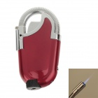 Creative Foldable Elbow Pipe Refillable Gas Lighter with LED Light - Red + Silver