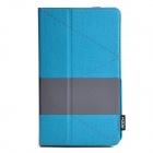 ROCK Shuttle Series Auto Sleep PU Leather Case w/ Stand for Samsung Galaxy Tab pro 8.4 - Blue + Grey