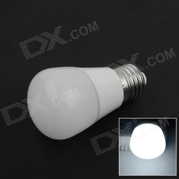 E27 3W 220lm 6000K 6-SMD 5730 LED White Light Lamp Bulb - White (85-265V) snat4332 used in good condition