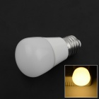 E27 3W 220lm 2800K 6-SMD 5730 LED Warm White Light Lamp Bulb - White (85~265V)