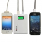 "Soshine E1 1.0"" LCD 10400mAh Dual-USB Li-ion battery Mobile Power Source Bank for IPHONE - White"