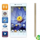 "HTM A6W Dual-core Android 4.2.2 WCDMA Bar Phone w/ 4.5"" Screen, Wi-Fi and GPS - White + Golden"