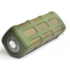 DITTER S33 Wireless Outdoor Sport Bluetooth V2.1 Speaker w/ Portable 7000mAh Power Bank - Army Green