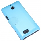 NILLKIN Protective PU Leather + caja de la PC w / Visual Window para Sony Xperia E1 D2105 - Azul