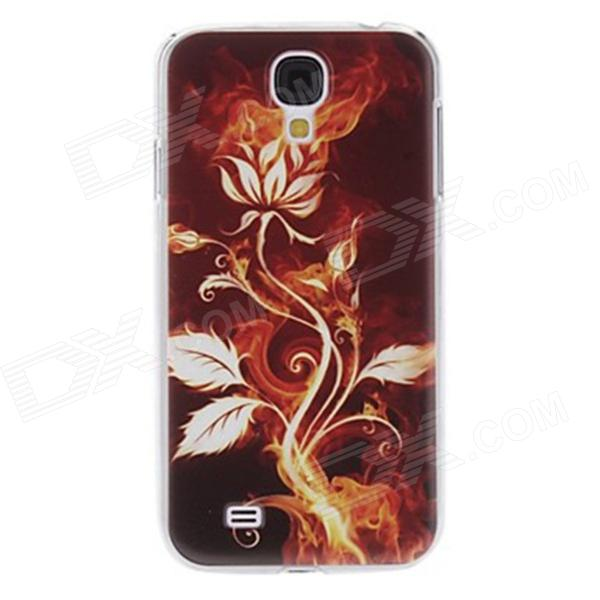 Kinston Gold Flower Pattern Protective Plastic Hard Back Case for Samsung Galaxy S4 i9500 - Golden protective cute spots pattern back case for samsung galaxy s4 i9500 multicolored