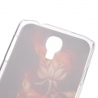 Kinston Gold Flower Pattern Protective Plastic Hard Back Case for Samsung Galaxy S4 i9500 - Golden