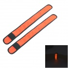 Deporte al aire libre 3-Mode LED parpadeante Advertencia Brazalete Correa - Orange + Negro (2 PCS)