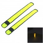 Outdoor Sport 3-Mode Flashing LED Warning Strap Arm Band - Yellow + Black (2 PCS)