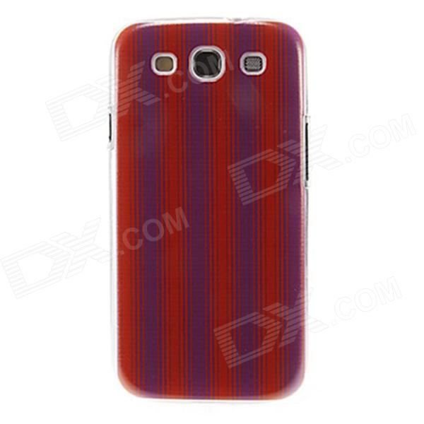 Kinston Stripes Pattern Protective Plastic Hard Back Case for Samsung Galaxy S3 i9300 - Purple + Red kinston colorful flowers and butterflies pattern plastic protective case for samsung galaxy s3 i9300