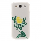 Kinston Chrysanthemum Pattern Protective Plastic Hard Back Case for Samsung Galaxy S3 i9300 - White