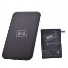 QI Wireless Charger Pad + Charger Receiver for Samsung GalaxyS5 -Black