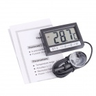 "ST-2 1.95"" LCD Digital Thermometer for Refrigerator / Aquarium + More - Black (1 x LR44)"