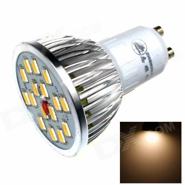 ZHISHUNJIA DB-GU101 GU10 8W 480lm 3000K 16 x SMD 5630 LED Warm White Light Lamp Bulb - (AC 85~265V) e14 5w 110lm 3000k 8 smd 5630 led warm white light lamp bulb ac 85 265v