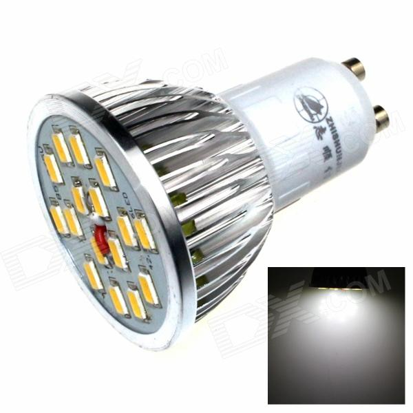 ZHISHUNJIA DB-GU101 GU10 8W 480lm 6000K 16 x SMD 5630 LED White Light Lamp Bulb - (AC 85~265V)
