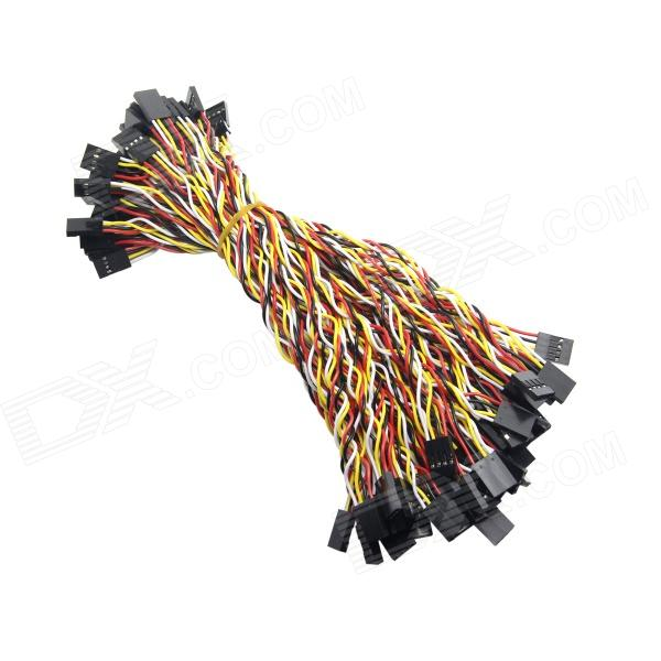 Dupont 4-Pin 2.54mm Female to Female Extension Wire Cable for Arduino (22cm / 50 PCS) цена и фото
