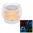 FL-01 Portable Mini Crystal Rose Style Bluetooth V2.0  2-CH Speaker w/ TF + LED Light - Golden (5V)