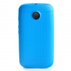 Non-slip Protective TPU Back Case for Moto E Phone - Blue