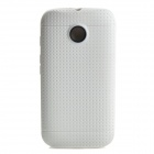 Non-slip Protective TPU Back Case for Moto E Phone - White