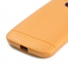 Non-slip Protective TPU Back Case for Moto E Phone - Golden
