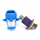 Cute Smiling Dolphin Shaped USB 2.0 Flash Disk Drive - Blue + White + Purple (8GB)