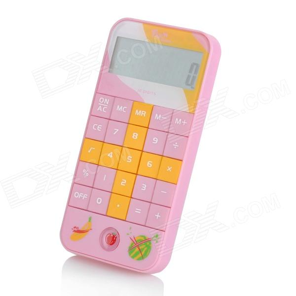 CD-4 4.8CM Screen Display 10-Digit Cartoon Pocket Calculator - Pink (3 x CR2032)