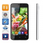 "JIAKE V3 Android 4.2.2 Quad-core WCDMA Bar Phone w/ 4.5"" Screen, GPS and Wi-Fi - White + Black"