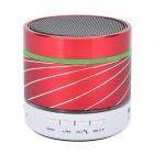 SK07 Mini Cylinder Shaped Bluetooth V3.0 Music Speaker w/ Colorful LED Lights - Red