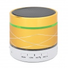 SK07 Mini Cylinder Shaped Bluetooth V3.0 Music Speaker w/ Colorful LED Lights - Yellow