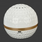 IP3 Mini Golf Ball Shape Bluetooth V4.0 Music Speaker w/ TF / LINE-IN NFC - White