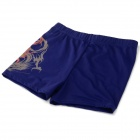Men's Stylish Swimming Chinlon + Spandex Pants / Shorts - Dark Blue (XL)