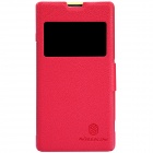 NILLKIN Protective PU Leather + PC Case Cover for Sony Xperia Z1 Compact M51W - Red