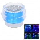 FL-01 Portable Mini Crystal Rose Style Bluetooth V2.0  2-CH Speaker w/ TF + LED Light - Blue (5V)