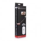 Wireless Bluetooth Remote Shutter w/ Aluminum Alloy Monopod for IPHONE / Samsung - White