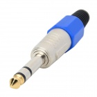 Universal 6.35mm Male to Female Audio Adapter / Connector - Blue + Silver + Black