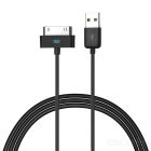 MFi Power4 30-Pin Male to USB 2.0 Male Data Sync / Charging Cable for IPHONE / IPAD - Black (100cm)