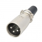 3-pin Cannon XLR Male Plug Connector / Adapter - Black + Silver