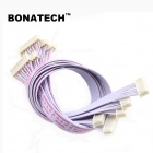BONATECH Double Line 2.54-8P XH-8P with Thread + Straight Needle Seat - White + Red (5 PCS / 30cm)