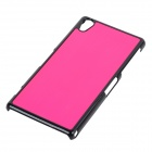 High Quality Protective Aluminum Alloy Back Case for Sony Xperia Z2/L50w - Deep Pink + Black