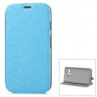 PUDINI LX-0308 Stylish Flip Open PU + PC Case w/ Stand for MOTO G - Blue