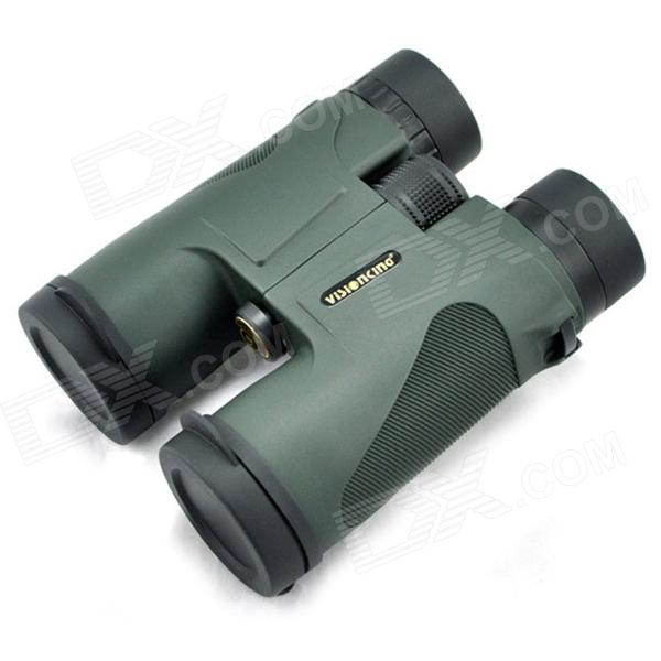 Visionking 10x42H Hunting Roof Binoculars Telescope - Black Green visionking 8x42 compact hunting monocular for birdwatching bak4 optics waterproof telescope hd zoom spotting scope with tripod