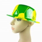 Cute Plastic Hat Cap for World Cup Fans of Brazil National Football Team - Yellow + Green